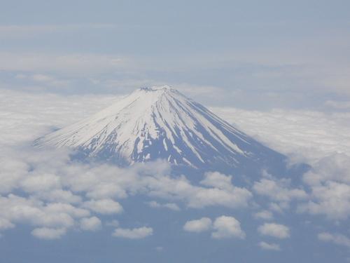 機内より富士山