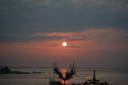 能登の夕日。